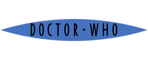 Flat colour Doctor Who logo (blue with black)
