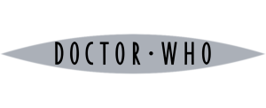 Flat colour Doctor Who logo (silver with black)
