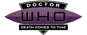 Death Comes To Time logo (black with white border)